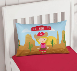 Cowgirl Pillowcase Cover