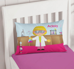 Cute Scientist Girl Pillowcase Cover