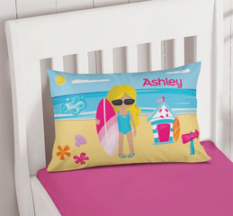 Beach Girl Pillowcase Cover
