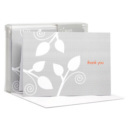 Original Boxed Blank Note Cards | Leaves On The Air Grey