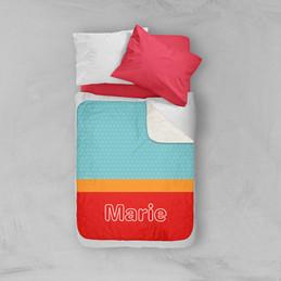 Modern Red Sherpa Blanket