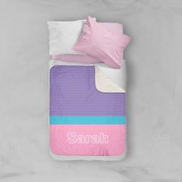 Modern Pink Sherpa Blanket