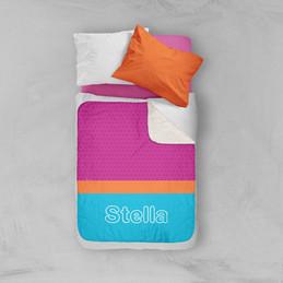 Modern Sky Blue Sherpa Blanket