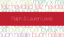 Collage Of Xmas Words Calling Card