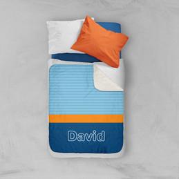 Modern Navy Sherpa Blanket