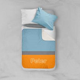 Modern Orange Sherpa Blanket