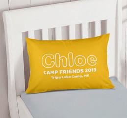 Modern Yellow Autograph Camp Pillowcase Cover