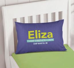 Linen Purple Style Autograph Camp Pillowcase Cover