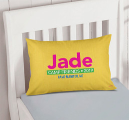 Linen Yellow Style Autograph Camp Pillowcase Cover