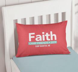 Linen Coral Style Autograph Camp Pillowcase Cover