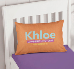 Linen Orange Style Autograph Camp Pillowcase Cover