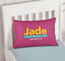 Linen Fuschia Style Autograph Camp Pillowcase Cover