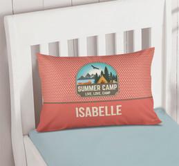 Live, Love, Camp Orange Pillowcase Cover