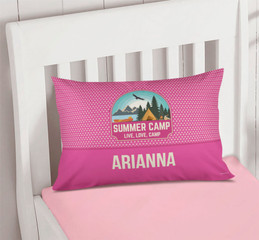 Live, Love, Camp Pink Pillowcase Cover