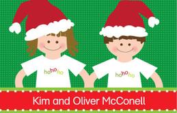 Kids In Santa Hats Calling Card