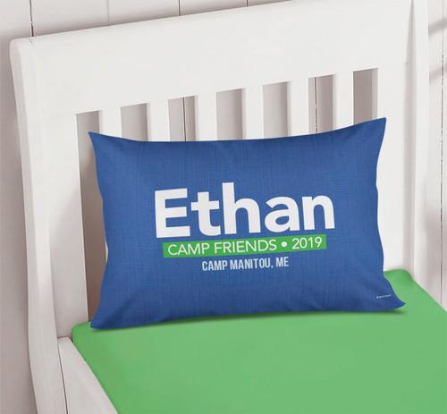 Linen Blue Autograph Camp Pillowcase Cover