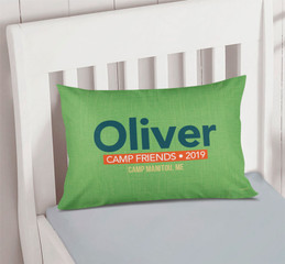 Linen Green Autograph Camp Pillowcase Cover
