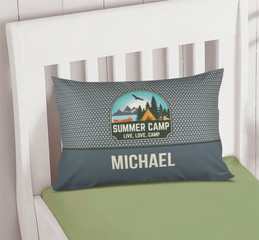 Live, Love, Camp Gray Camp Pillowcase Cover