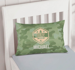 Camouflage Camp Green Pillowcase Cover