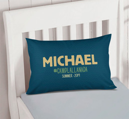 Midnight Green Autograph Camp Pillowcase Cover