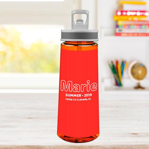 Modern Red Sports Water Bottle