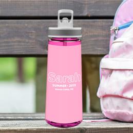Modern Pink Sports Water Bottle