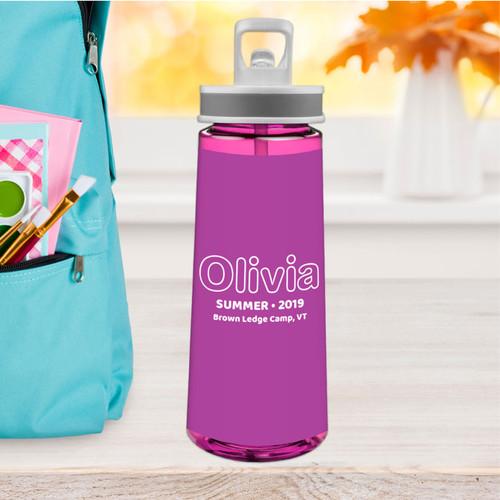 Modern Purple Sports Water Bottle