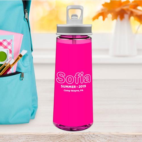 Modern Magenta Sports Water Bottle