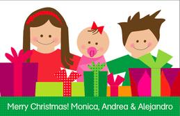 Siblings Sharing Gifts Calling Card