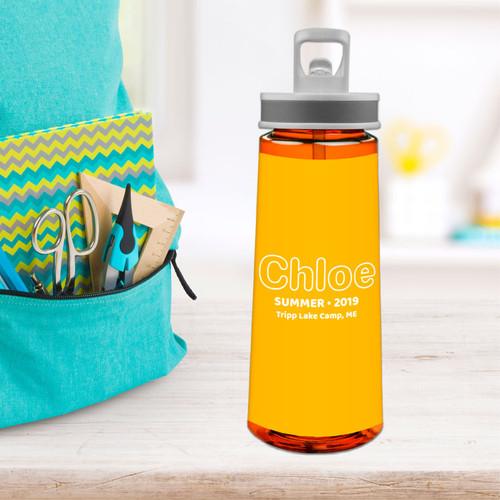 Modern Yellow Sports Water Bottle