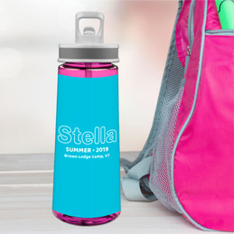 Modern Sky Blue Sports Water Bottle
