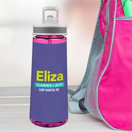 Linen Purple Style Sports Water Bottle
