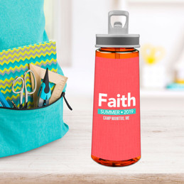 Linen Coral Style Sports Water Bottle