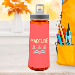 Summer Forest Orange Sports Water Bottle