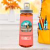 Live, Love, Camp Orange Sports Water Bottle