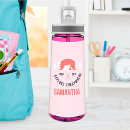 Explore Everywhere Pink Sports Water Bottle