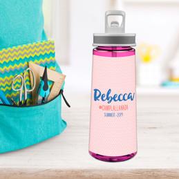 Cute Minimalist Name Sports Water Bottle
