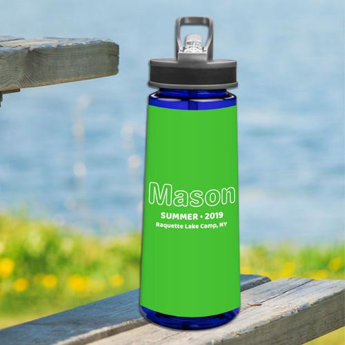 Modern Green Sports Water Bottle