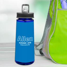 Modern Blue Sports Water Bottle