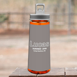 Modern Gray Sports Water Bottle