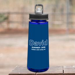 Modern Navy Sports Water Bottle