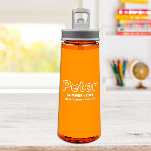 Modern Orange Sports Water Bottle