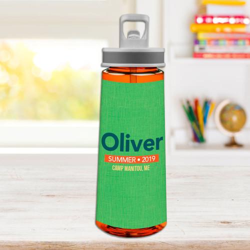 Linen Green Style Sports Water Bottle