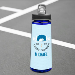 Explore Everywhere Blue Camp Sports Water Bottle