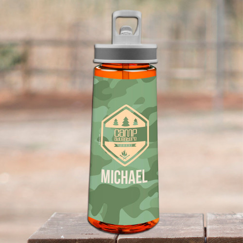 Camouflage Camp Green Sports Water Bottle