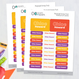 Modern Yellow Waterproof Labels Rectangular Pack