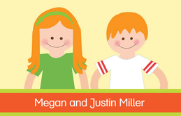 Brother And Sister Smiling Gift Tags