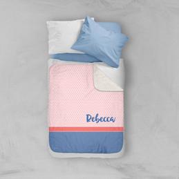 Cute Minimalist Name Sherpa Blanket