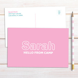 Modern Pink Postcards
