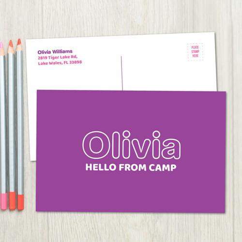 Modern Purple Postcards